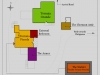 Kart over utleieenhetene på engelsk. Klikk neste for italiensk versjon.