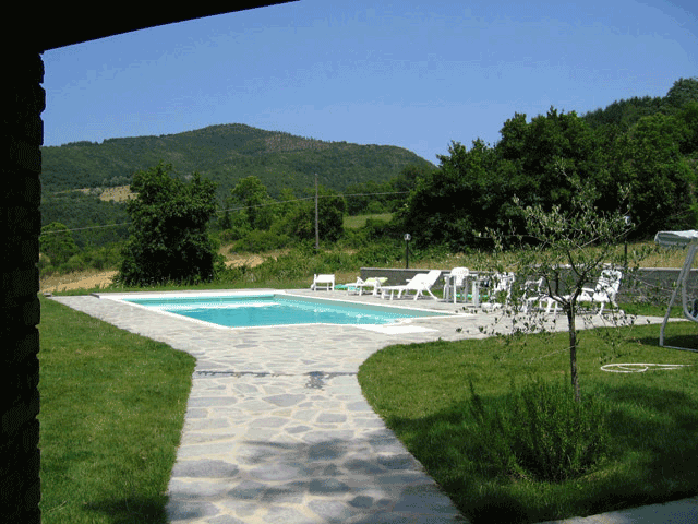 The Swimming Pool, terraces and sheds - La Tornaia